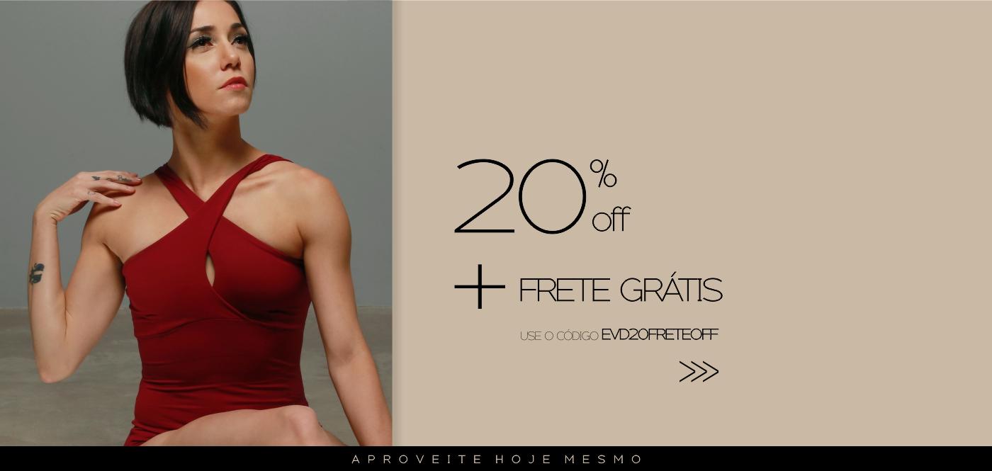 20% off + frete grátis